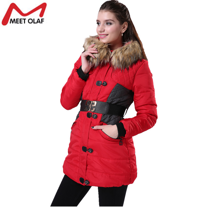 2017 Winter Women Hooded Coat Cotton Padded Jackets Female Slim Parka Overcoat and Jacket Casual Plus Size 3XL Parkas YL004 wadded jacket female short winter coat women slim thin coat removable hooded cotton female parka casual jackets plus size c1118