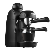 240 ml 소용량 반자동 이탈리아 미니 커피 머신 스팀 타입 블랙 전기 커피 메이커 우유 거품기