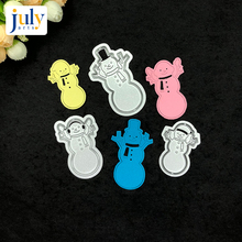 Julyarts 3pcs/set Snowman Cutting Dies Silver Scrapbooking for Handwork Gift Creative Carbon Steel Material