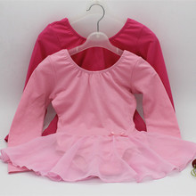 Autumn /winter Cotton Long Sleeve Children Ballet Dancing Dress Girl Ballet Tutu Costume Kids Balett Dress Girl Dance Wear 89