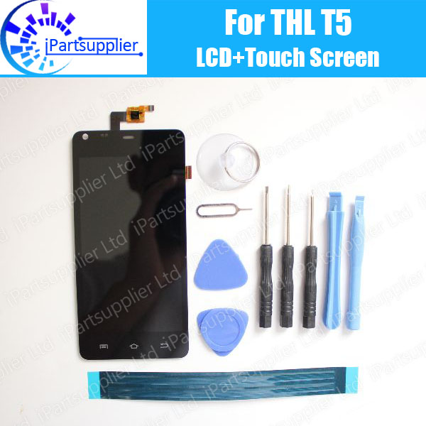 THL T5 LCD Display+Touch Screen Assembly 100% Original LCD Digitizer Replacement Repair Accessories For THL T5 +tools+adhesive