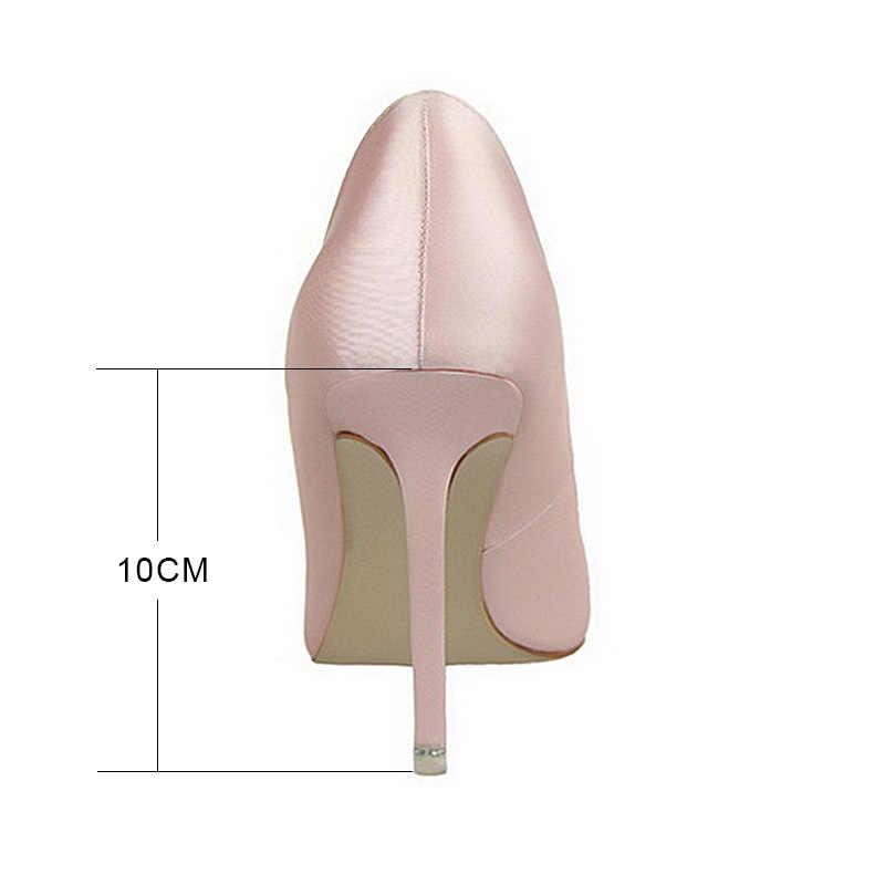 Kadın Pompaları Seksi Yüksek Topuklu Ayakkabılar Moda Kristal Kadın Ayakkabı Yaz 2018 Kadın Düğün Ayakkabı Taklidi Bayan Ayakkabı