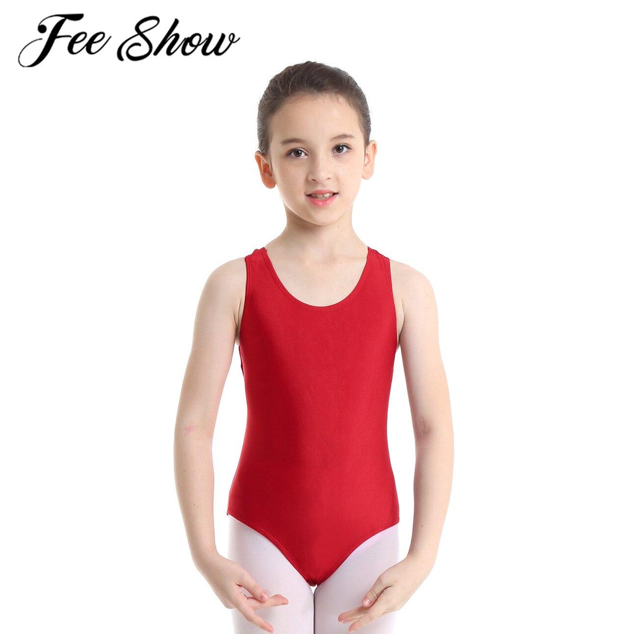 Kids Girls Ballet Dance Bodysuit Gymnastics Workout Leotards Training Costumes
