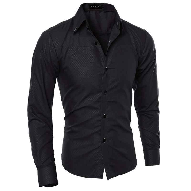 Cotton White Long Sleeve Men Dress Shirts Moisture Wicking Big And ...