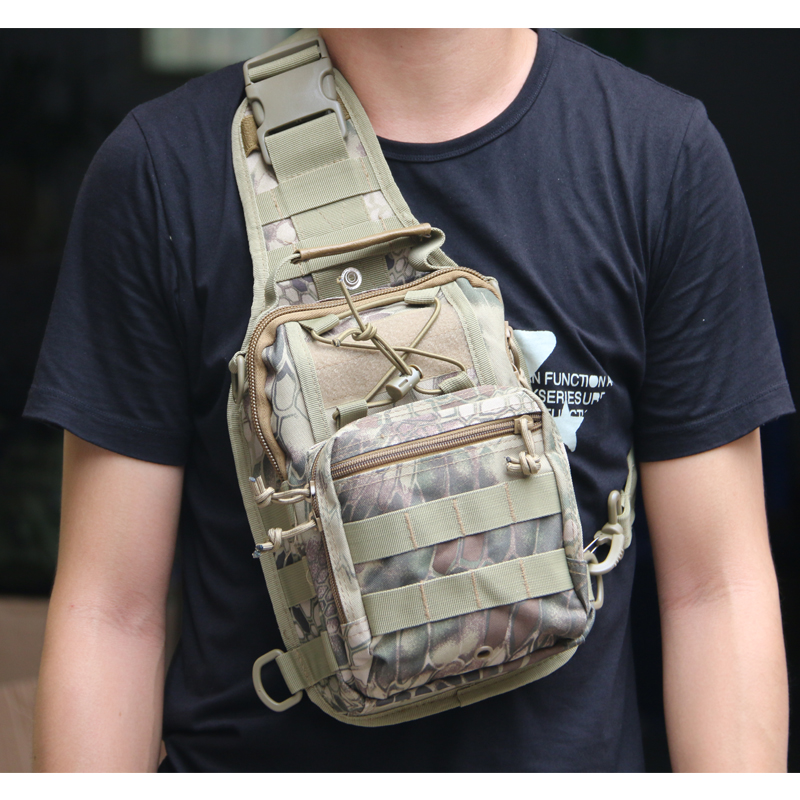 TAK YIYING Men Messenger Bags Chest Pack Multifunctional Moll Tactical single shoulder bag Camping Equipment Outdoor Sport