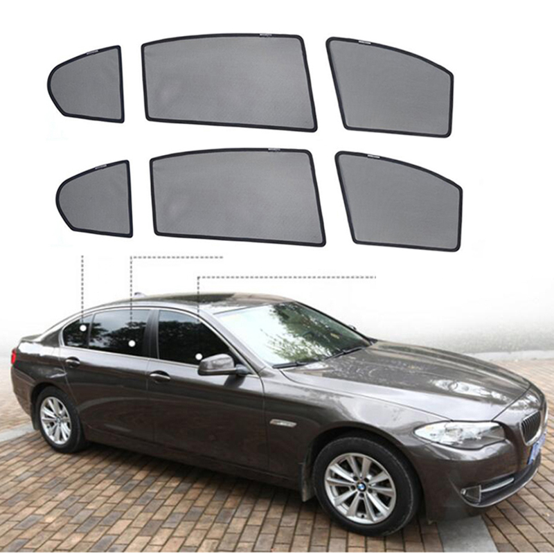 Special Made Net Car Window Visor Side Rear Windows Blinds Windshield Sunshades for bmw e39 2001
