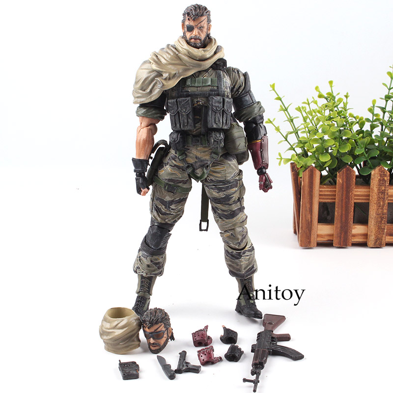 Hot Game Metal Gear Solid 5 The Phantom Pain Venom Snake Play Arts Kai Action Figure PVC Collection Model Toy 27cm metal gear solid action figure playarts kai the phantom pain quiet venom snake model toy play arts kai snake figure playart pa04