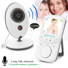 Radio Nanny 2017 wireless baby monitor Russian Menu 2.4 inch IR Night Vision Intercom Temperature monitor Lullabies video nanny