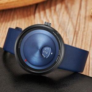 Image 3 - Basit sevgili saati Minimalist Pikap Erkek Kadın Izle Deri Kayış Pürüzsüz Kuvars Saatı Erkek Bayanlar Saat Hediyeler relogio