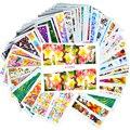 50 Hojas Nuevas de la Flor/De La Pluma/de la Historieta Completa Sticker Etiquetas Del Arte Del Clavo Belleza Mezcla de Colores Sello de Uñas Decoraciones C180-227