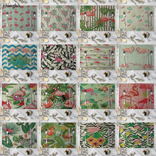 Linen Placemat Flamingo Tropical Plants Pattern Dining Table Mat Cloth Table Napkins for Wedding Kitchen Coffee Cup Mat Party De flamingo print table mat