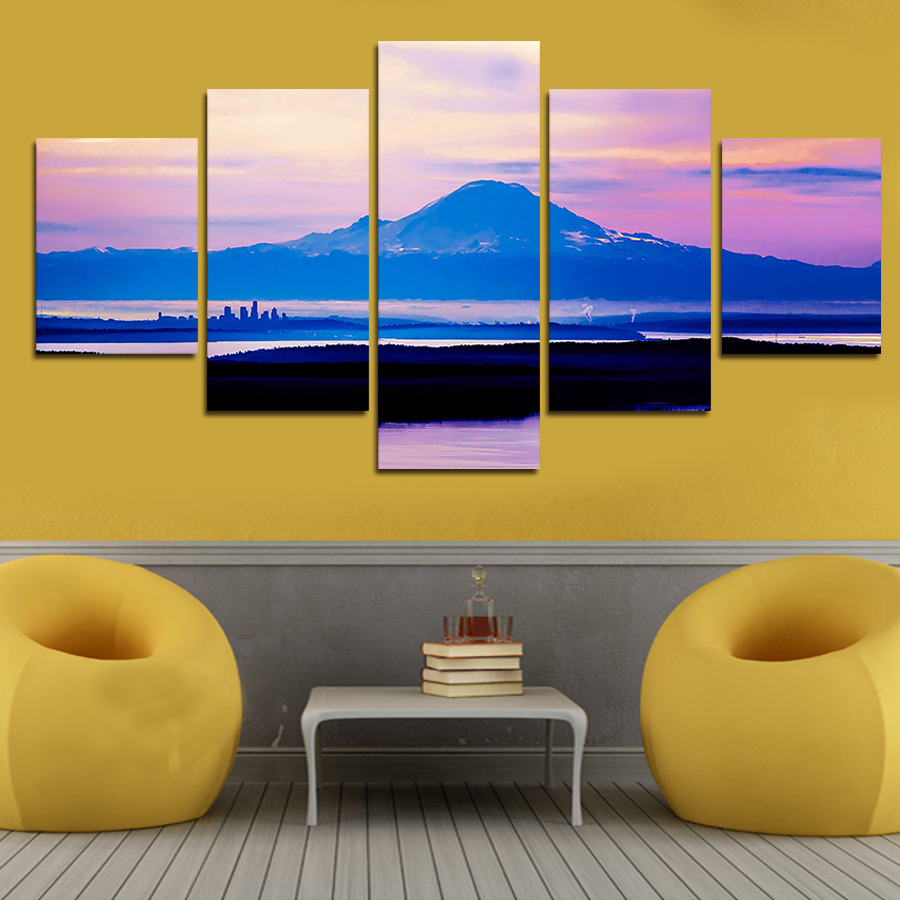 Aliexpress.com : Buy 5 Piece(No Frame) Scenery Mountain Modern Home ...