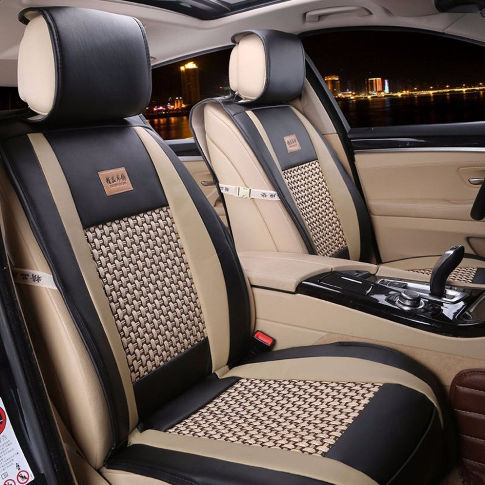 New High Quality Universal Car 5 Seats Covers 10pcs for SUV Crossovers Sedans Auto Interior Styling Decoration Protect