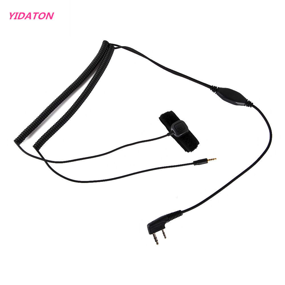 YIDATON Vimoto V3 V6 V8 Bluetooth Helmet Headset Special Connenting Cable For Kenwood Baofeng UV-5R Two Way Walkie Talkie Radio