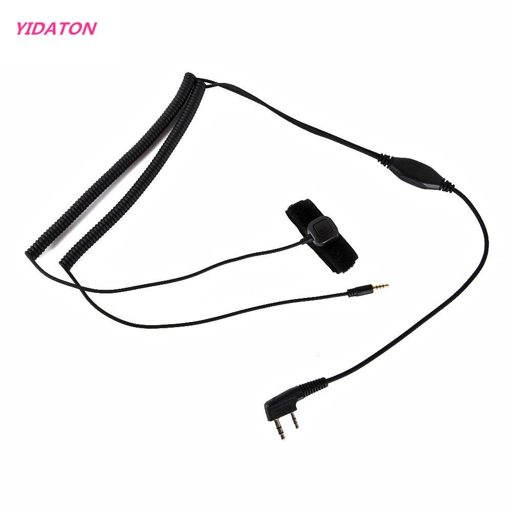 YIDATON Vimoto V3 V6 V8 Hełm Bluetooth zestaw słuchawkowy specjalne Connenting kabel do obsługi Kenwood Baofeng UV-5R dwa stronę Walkie Walkie talkie