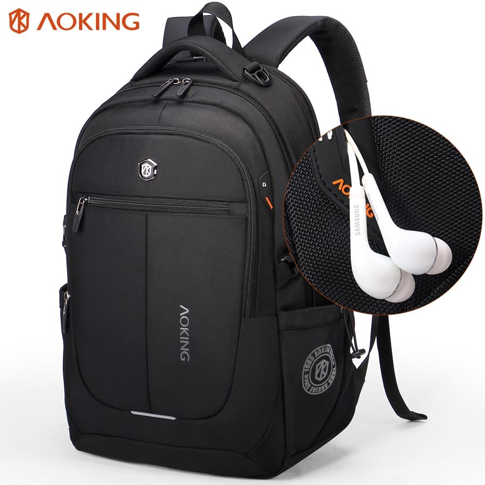Aoking бренд Для мужчин рюкзак легкий комфорт мода Городской рюкзак для 15 дюймов ноутбука дышащая рюкзак Mochila школьная сумка