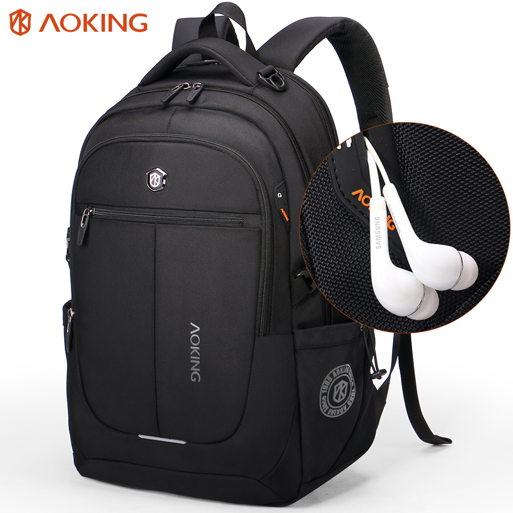 Aoking Brand Men Backpack Light Comfort Fashion Urban Backpack for 15 inch Laptop Breathable Rucksack Mochila School bag
