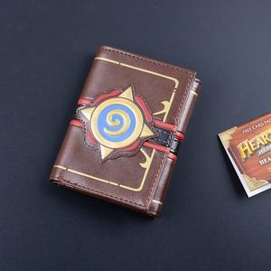 Image 3 - MSMO Kabartmalı Deri Hearthstone Heroes Warcraft Kartı dünyası Cüzdan Paketi Yeni Hediye