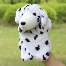 Spotted dog hand puppets Christmas gift 30cm Plush hand puppet toys Animals  toys for baby kids children