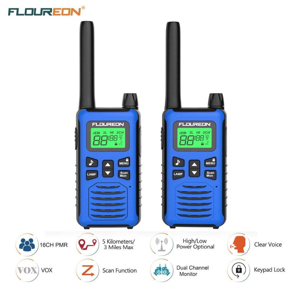 FLOUREON 22 CH Twins Walkie Talkies FRS//GMRS 462-467MHZ Handheld Interphone 5 Km