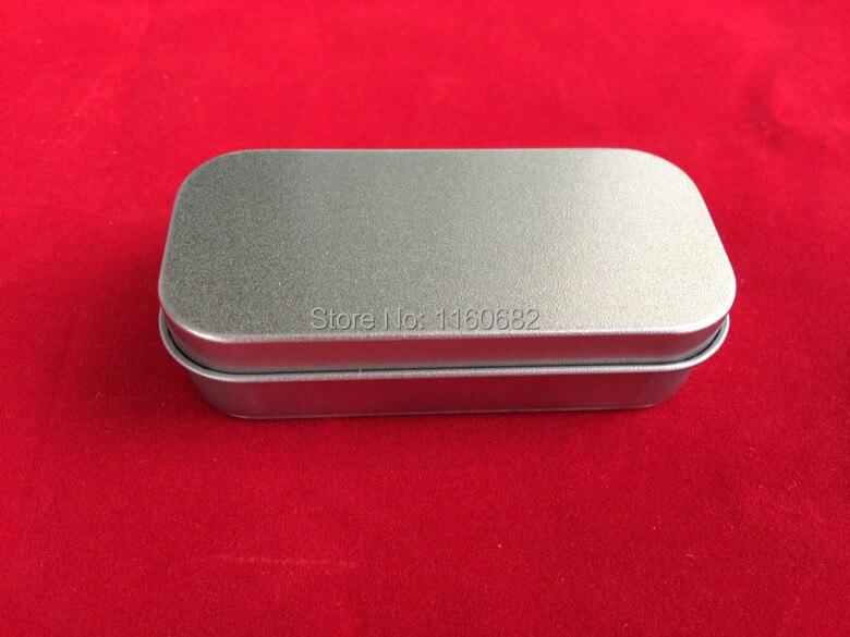 Free shipping Hinge pill box silver tin gift box sealing plain tin box 88x38x22mm