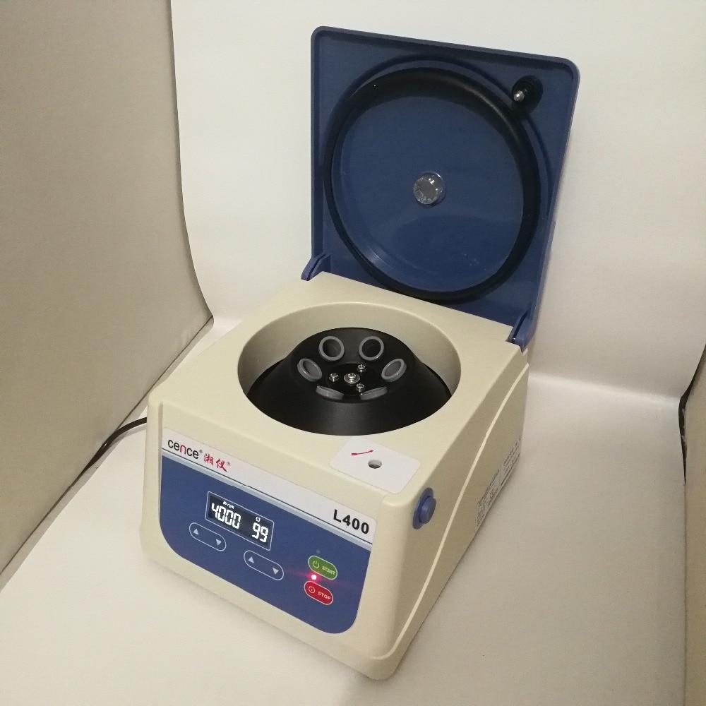 Automático de Baixa v do Equilíbrio do Centrifugador L400 do Laboratório do Desktop de 6x15ml Centrifugador Velocidade 220 4000r – Min