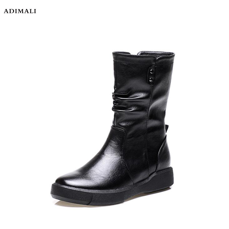 Здесь можно купить  women winter shoes plush ankle boots 2018 new arrival genuine leather ladies casual waterproof winter snow boots  Обувь