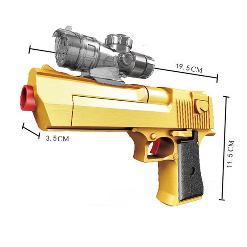 اللعب البلاستيكية رصاصة مائية هلام الكرة بندقية الصحراء النسر للأطفال الأولاد مسدس بندقية لينة الألوان في الهواء الطلق لعب اطلاق النار الاطفال الهدايا