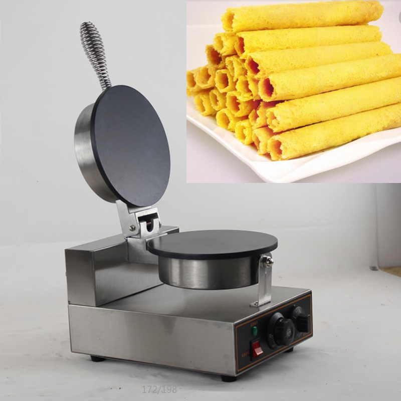 China Egg Roll Machine Stainless steel manual egg roll stuffing machine high quality rolled egg cone making machine stainless steel automatic egg roll machine for sale