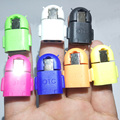 7 pcs/lot Mini Cute Gift Universal Robot Shape Andriod Micro USB OTG Host Adapter for Samsung Galaxy S3 4 Note 3 4 for HTC