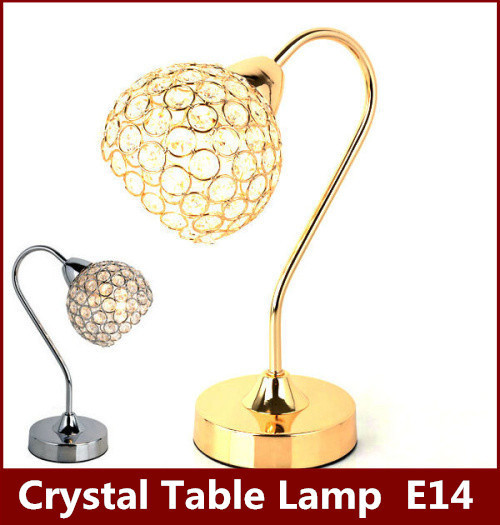 Dimmer Modern K9 Crystal Table Lamp E27 Bedside Living Room Office reading Light shade Decoration Luminaire FRTL/T47 adjustable