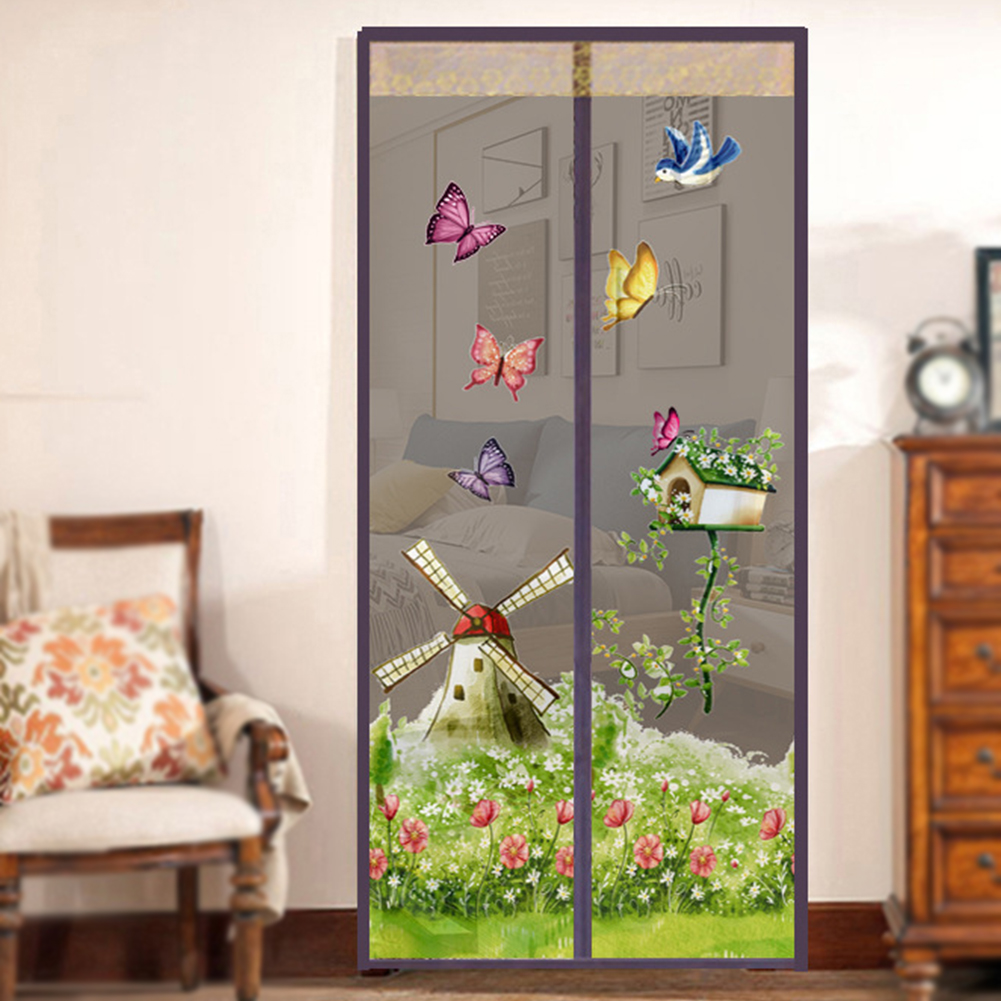 4 Colors Door Screen Hands Free Magnetic Mosquito Net Soft Yarn Door Curtain Anti Insect Fly Mesh