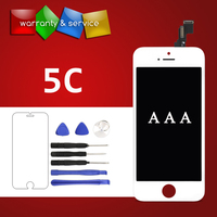 1 PCS Grade AAA Display For IPhone 5C LCD Display Touch Screen Display For IPhone 5c
