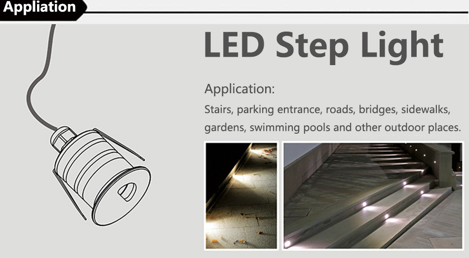 1W Led Step Light 8