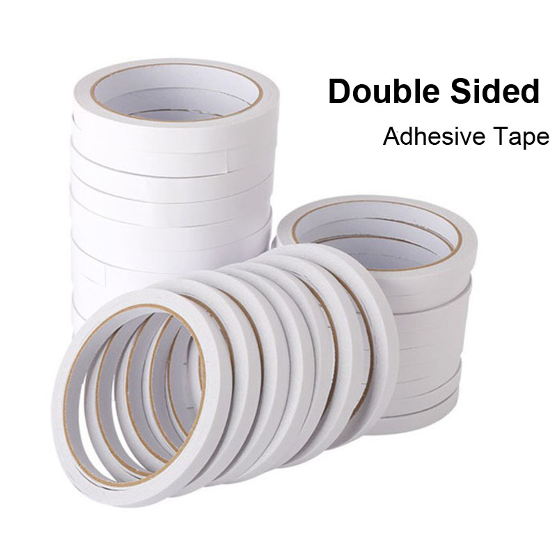 10m Double Faced Adhesive Deco Tissue Tape Sided Face Papeleria School Stationery Store Sticky Item Office Accessory Tool Thing 1 pcs deli 2 4cm 10y super slim strong adhesion white double sided tape doubles faced adhesive for office supplies