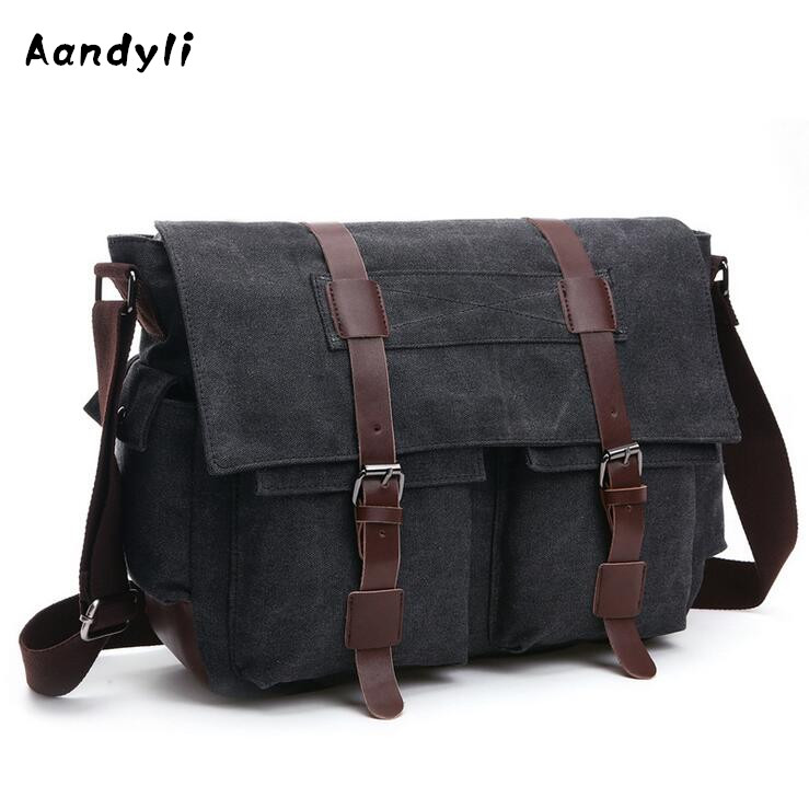 2018 Laptop Men's Crossbody Bags Student Canvas Shoulder bag Ipad Large space Messenger Bag sitemap 358 xml