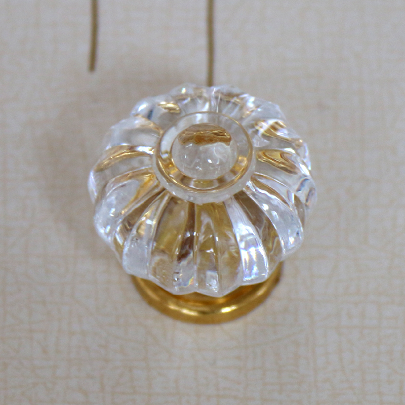 Clear Acrylic Pumpkin Shape Furniture Knobs 35mm Crystal Drawer Dresser  Cupboard Knobs Pulls Handles(China