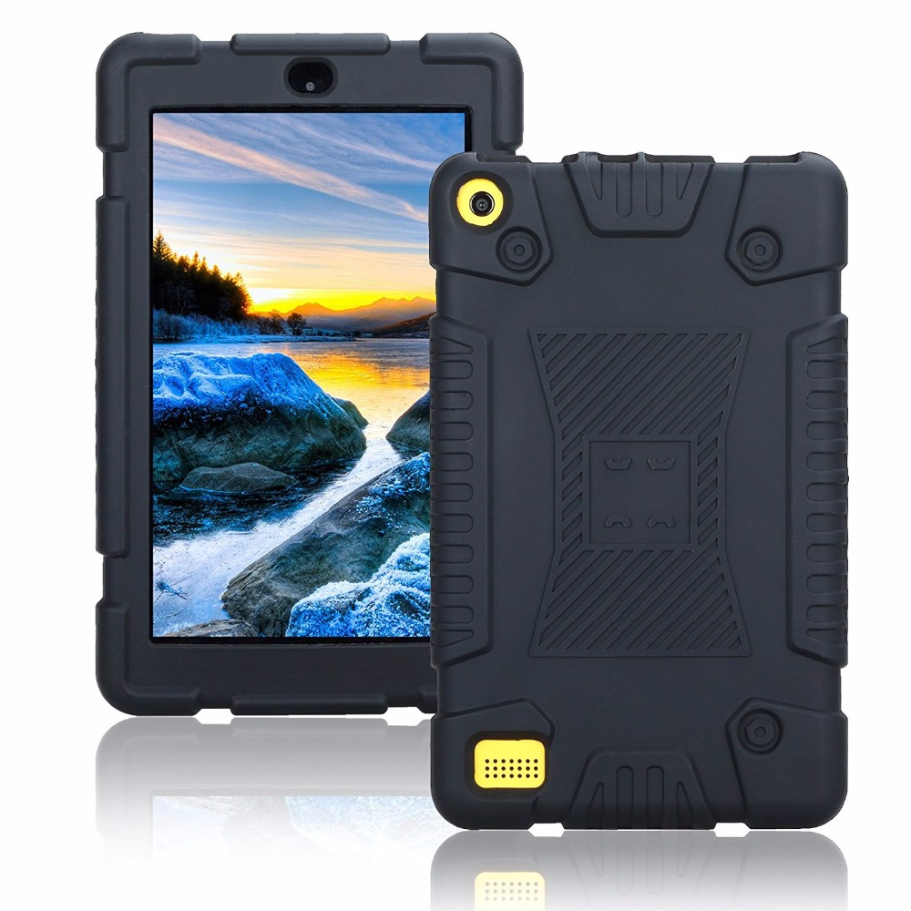 Kindle Fire 7 Case 2017 Shockproof Heavy Duty Silicon Case Protective Full Body Case Cover for Amazon Kindle Fire 7 2017 Funda for 2017 new kindle fire 7 armor shockproof hybrid heavy duty protective stand cover case for amazon kindle fire 7 2017