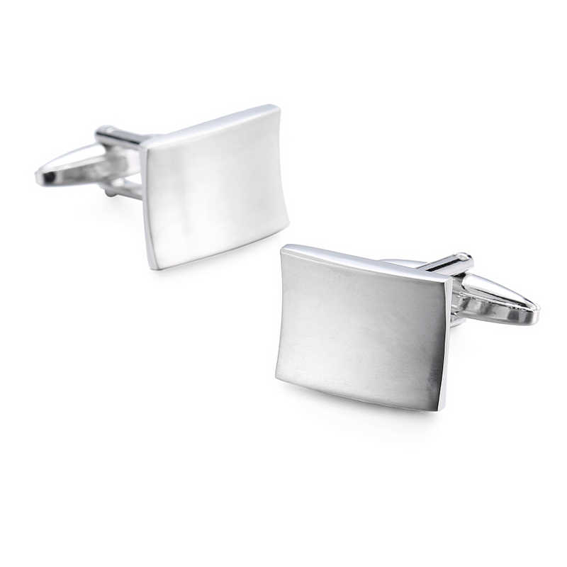 Novelty Hot selling cufflinks High quality Smooth stainless steel laser drawing design cuff links Wedding business Jewelley