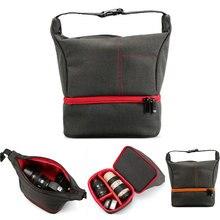 Открытый Сумки для фотоаппаратов DSLR цифровой фотографии сумка истиранию устойчивые сумочки для sony a6000 Canon d5300 Nikon 1300d