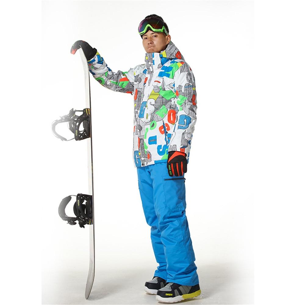 GSOU SNOW Winter Ski Jackets Men's Warmth Outdoor Snowboard Waterproof windproof Breathable Male ski suit coat
