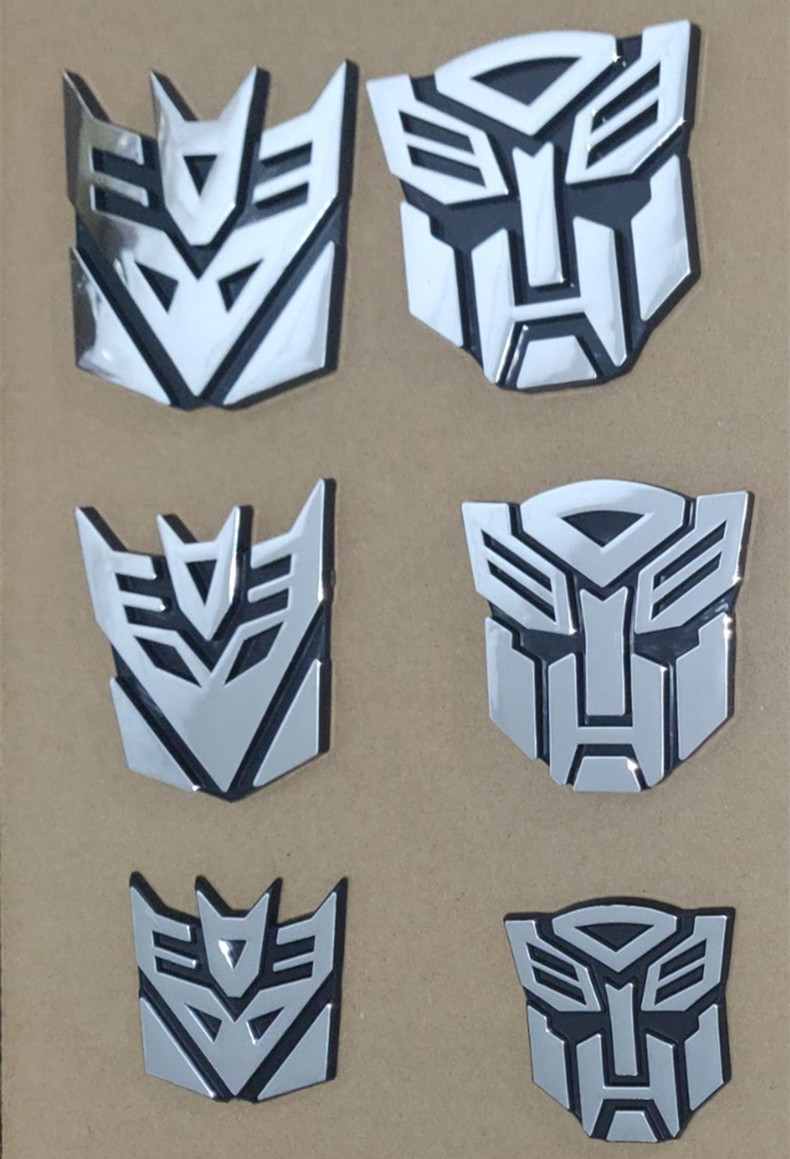 Image 4 - ABS  3d Car Sticker Transformers For Car Auto Logo Window Tail Car Body Decoration Car Styling-in Car Stickers from Automobiles & Motorcycles