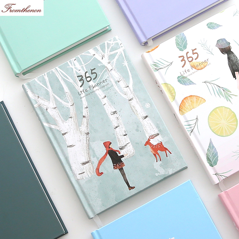 Korean Kawaii 365 days Daily Plan Monthly Yearly Planner organizer Agenda 2018 Schedule book Notebook Journal Diary Stationery 2018 korean 365 travelers notebook planner cute daily weekly monthly yearly plan agenda schedule day journal diary notebook a5