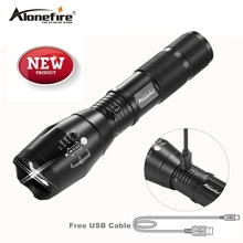 AloneFire G700-U XM-L T6 Zoomable CREE LED Flashlight Waterproof usb Rechargeable Torch light for 18650 Rechargeable Battery