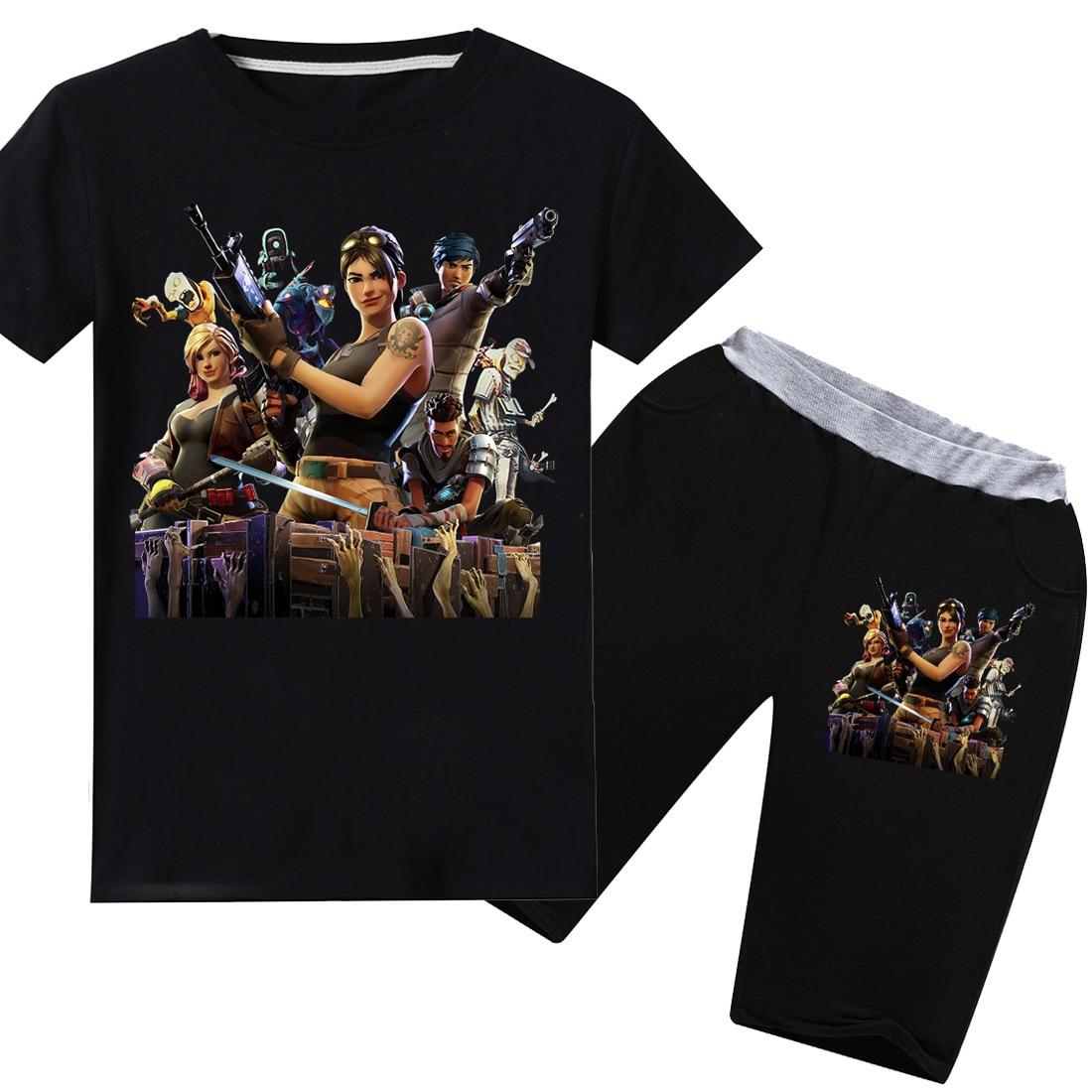 KüHn 6-14 Jahre Alte Kinder Kleidung Fortnight Anzug Junge T-shirt Fornite 3d Druck + Hosen 2 Stücke Sommer Junge Kinder Kleidung Casual Hemd