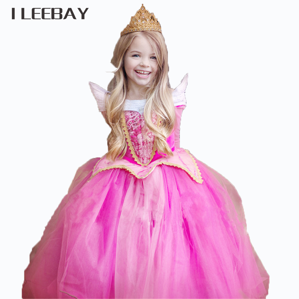 Kids Party Fancy Tulle Dress For Girls Christmas Gift Fairy Princess Dress Sleeping Beauty Aurora Gown Halloween Cosplay Costume girls sleeping beauty princess cosplay party dresses children long sleeve aurora costume clothing kids tutu dress for christmas