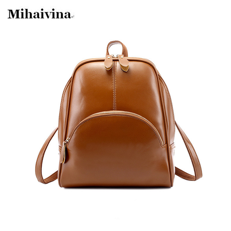 New 2017 High Quality Women Backpacks Famous Brands Fashion Lady Leather Backpack School Backpacks For Teenage