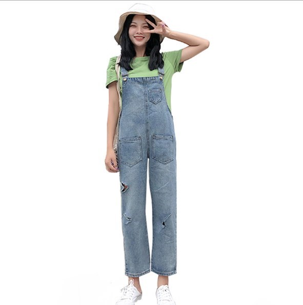 489b56bd171 Fashion Jumpsuit Female Denim Overalls for Women Bodysuit Salopette Femme  Women Denim Jumpsuits Rompers Wide Leg Jeans