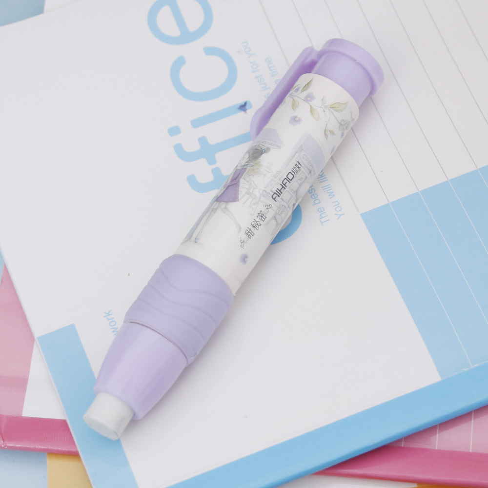 1 Pc Student Cute Kawaii Flower Mechanical Pencil Eraser Creative Automatic School Rubbers Gift Korean Stationery