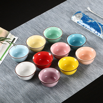 10-color Longquan celadon tea cup Kungfu tea cup set ceramic tea cup individual Master Cup single cup 1